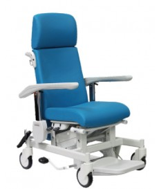 Sillón médico de altura variable sincronizada y asiento elevable. 7110002